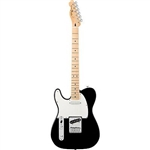 "Fender Standard Telecaster Left Handed Electric Guitar - Black Gloss ""Maple Fretboard"""
