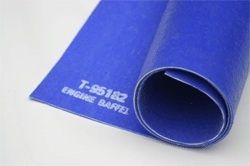 "1/8"" x 18"" x 40"" Silicone Engine Baffle (Textured Finish) Blue"