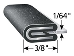 "Black Trim Lok Edge Trim 1/64"" X 3/8"""