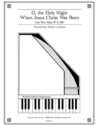 O, the Holy Night when Jesus Christ was Born - Low Solo Download