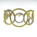 BLD0002 18k Yellow and White Gold Diamond Bracelet