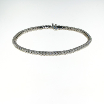 BLD0011 18k White Gold Diamond Bracelet