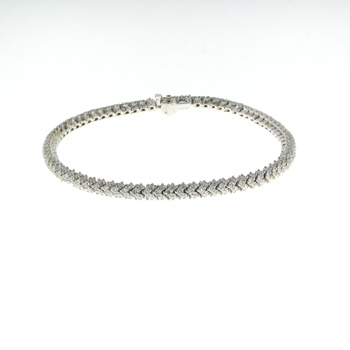 BLD0012 18k White Gold Diamond Bracelet