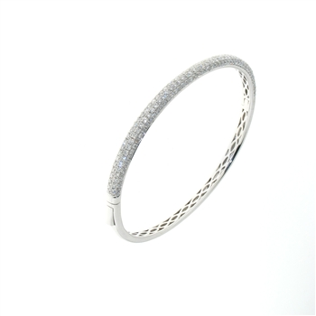 BLD0043 18k White Gold Diamond Bracelet