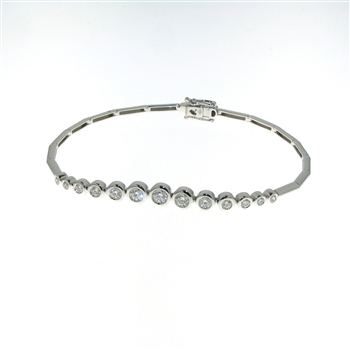 BLD0058 18k White Gold Diamond Bracelet