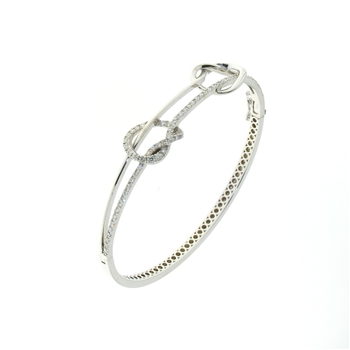 BLD0074 18k White Gold Diamond Bracelet