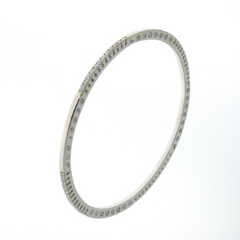 BLD1543 18k White Gold Diamond Bracelet