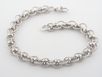 BLD2346 18k White Gold Diamond Bracelet