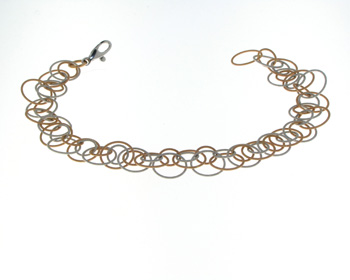 BLG1002 18k Rose & White Gold Bracelet