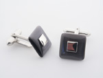 CUF1000 Sterling Silver Enamel Cuff Links