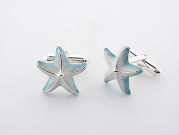 CUF1006 Sterling Silver Enamel Cuff Links