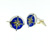 CUF1008 Sterling Silver Enamel Cuff Links