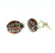 CUF1009 Sterling Silver Enamel Cuff Links
