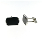 CUF1017 Sterling Silver Onyx Cuff Links