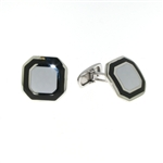 CUF1020 Sterling Silver Enamel Cuff Links