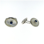 CUF1022 Sterling Silver Lapis Cuff Links