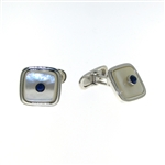CUF1023 Sterling Silver Lapis Cuff Links