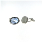 CUF1027 Sterling Silver Mother-of-Pearl Cuff Links