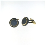 CUF1028 Sterling Silver & Gold Plated Cuff Links