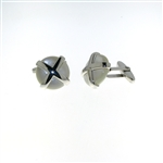 CUF1030 Sterling Silver Mother-of-Pearl Cuff Links