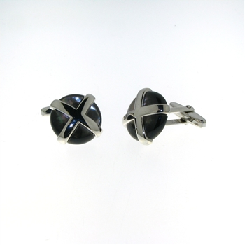 CUF1031 Sterling Silver Mother-of-Pearl Cuff Links