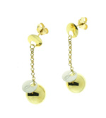 E000001 18k White & Yellow Gold Earrings
