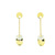 E000007 18k Yellow & White Gold Drop Earrings