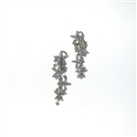 EDC0039 18k White Gold Diamond Earrings