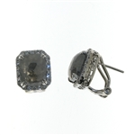 EDC0041 18k White Gold Black & White Diamond Earrings