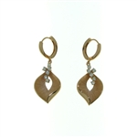 EDC0043 18k Rose Gold Diamond Earrings