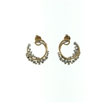 EDC0044 18k Rose Gold Diamond Earrings