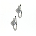 EDC0047 18k White Gold Diamond Earrings