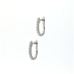 EDC0049 18k White Gold Diamond Earrings