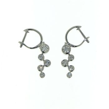 EDC0050 18k White Gold Diamond Earrings