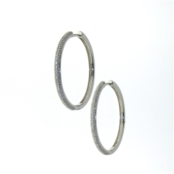 EDC01001 18k White Gold Diamond Earrings