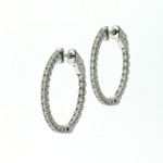 EDC01004 18k White Gold Diamond Earrings
