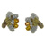 EDC01006 18k White Gold Yellow Sapphire Diamond Earrings