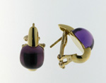 EDC01007 18k Yellow Gold Amethyst Earrings