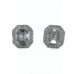 EDC01015 18k White Gold Diamond Earrings