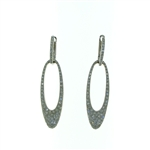 EDC01043 18k White Gold Diamond Earrings