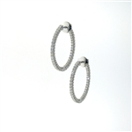 EDC01045 18k White Gold Diamond Earrings