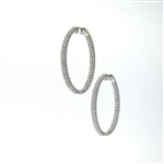 EDC01046 18k White Gold Diamond Earrings