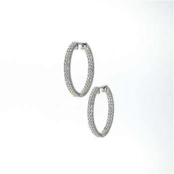 EDC01047 18k White Gold Diamond Earrings