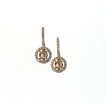 EDC01050 18k Rose Gold Diamond Earrings