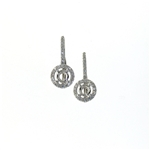 EDC01051 18k White Gold Diamond Earrings
