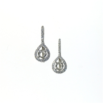 EDC01052 18k White Gold Diamond Earrings