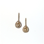 EDC01053 18k Rose Gold Diamond Earrings