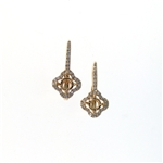 EDC01054 18k Rose Gold Diamond Earrings