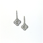 EDC01055 18k White Gold Diamond Earrings