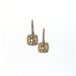 EDC01057 18k Rose Gold Diamond Earrings